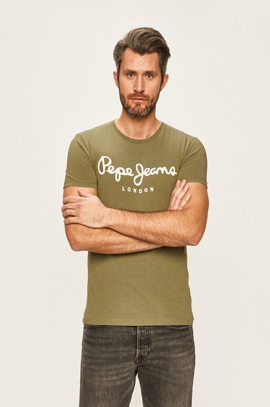 okrová Pepe Jeans - Tričko