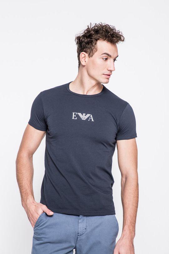 niebieski Emporio Armani - T-shirt (2-pack) Męski