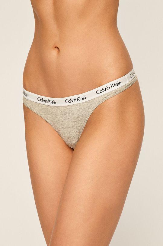 sivá Calvin Klein Underwear - Tangá Dámsky