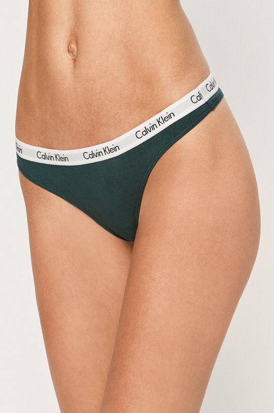 grafitová Calvin Klein Underwear - tanga Dámský