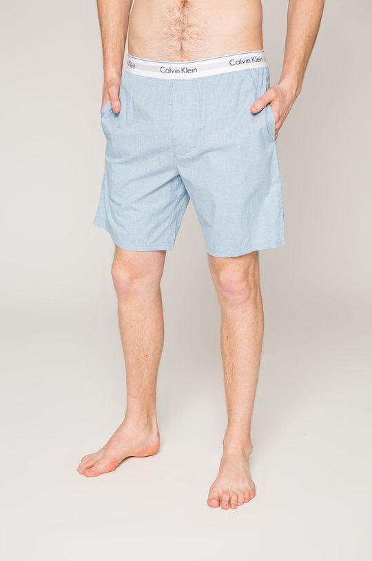 světle modrá Calvin Klein Underwear - Pyžamové šortky Pánský