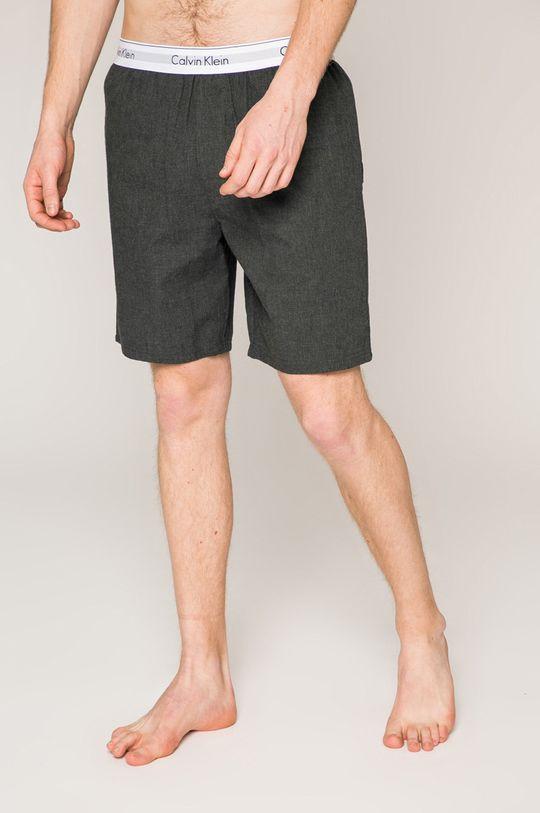 grafitová Calvin Klein Underwear - Pyžamové šortky Pánský