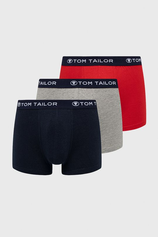 czerwony Tom Tailor Denim - Bokserki (3-pack) Męski