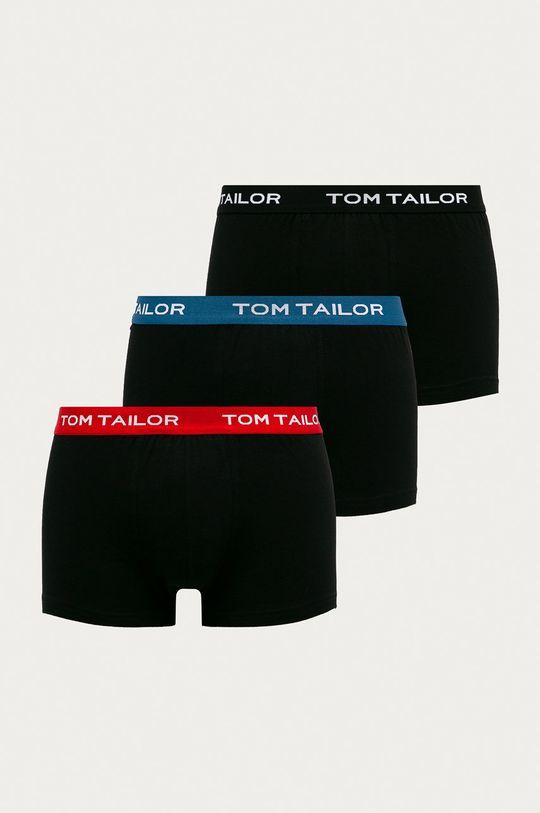 čierna Tom Tailor Denim - Boxerky (3-pak) Pánsky