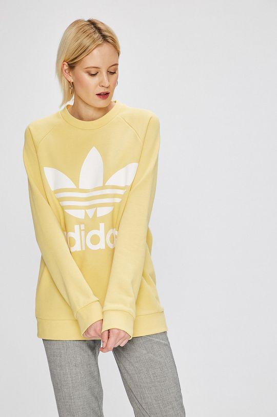 жълт adidas Originals - Суичър Жіночий