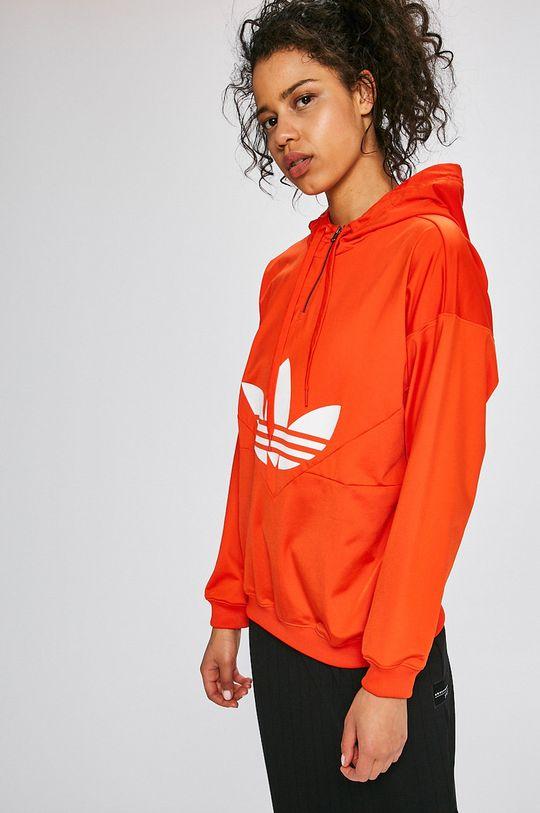 червен adidas Originals - Суичър Жіночий