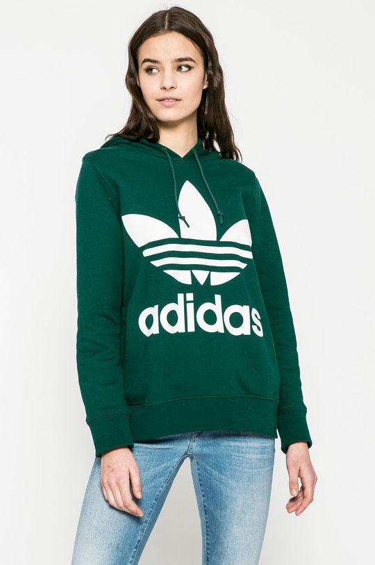 зелен adidas Originals - Суичър Жіночий