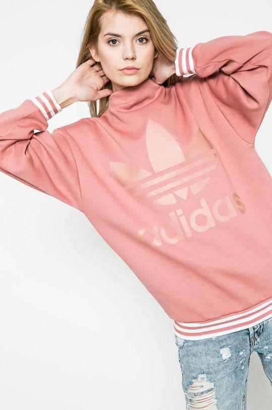 виолетово-розов adidas Originals - Суичър Жіночий