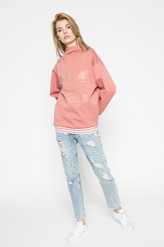 adidas Originals - Суичър виолетово-розов