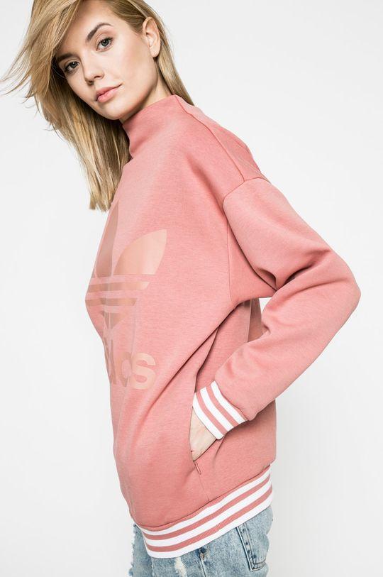 виолетово-розов adidas Originals - Суичър