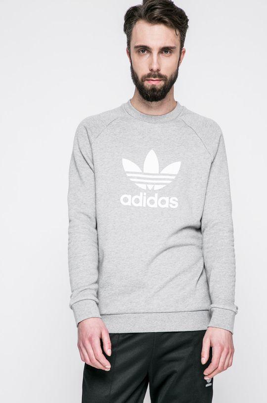 сив adidas Originals - Суичър Чоловічий