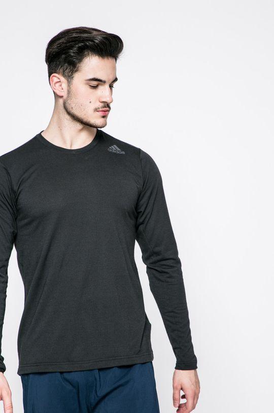 čierna adidas Performance - Pánske tričko s dlhým rukávom Pánsky