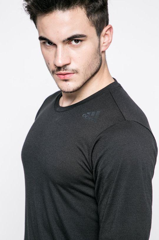 čierna adidas Performance - Pánske tričko s dlhým rukávom