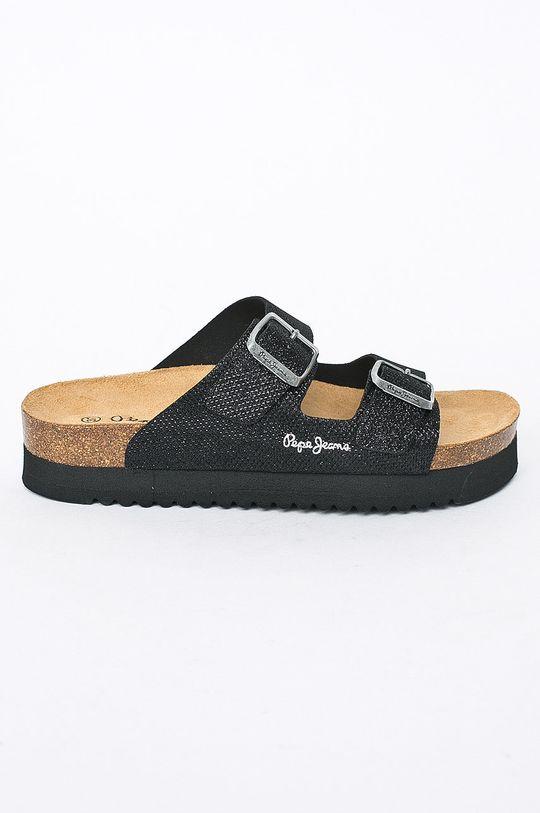 černá Pepe Jeans - Pantofle Dámský