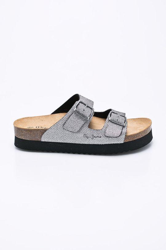 stříbrná Pepe Jeans - Pantofle Dámský