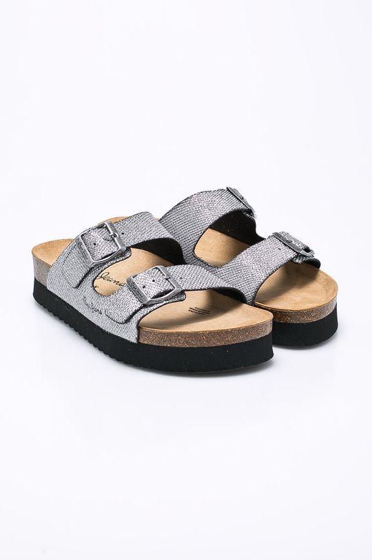 Pepe Jeans - Pantofle stříbrná