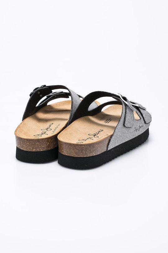 stříbrná Pepe Jeans - Pantofle