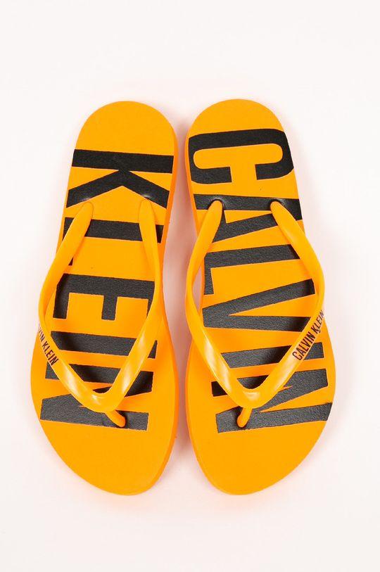Calvin Klein Jeans - Žabky oranžová