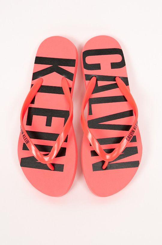 Calvin Klein Jeans - Žabky fuchsiová