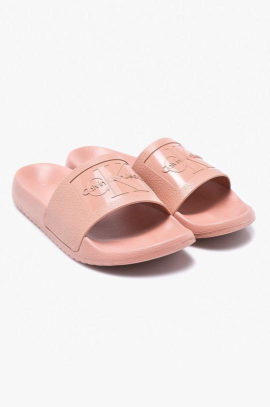 Calvin Klein Jeans - Pantofle pastelová