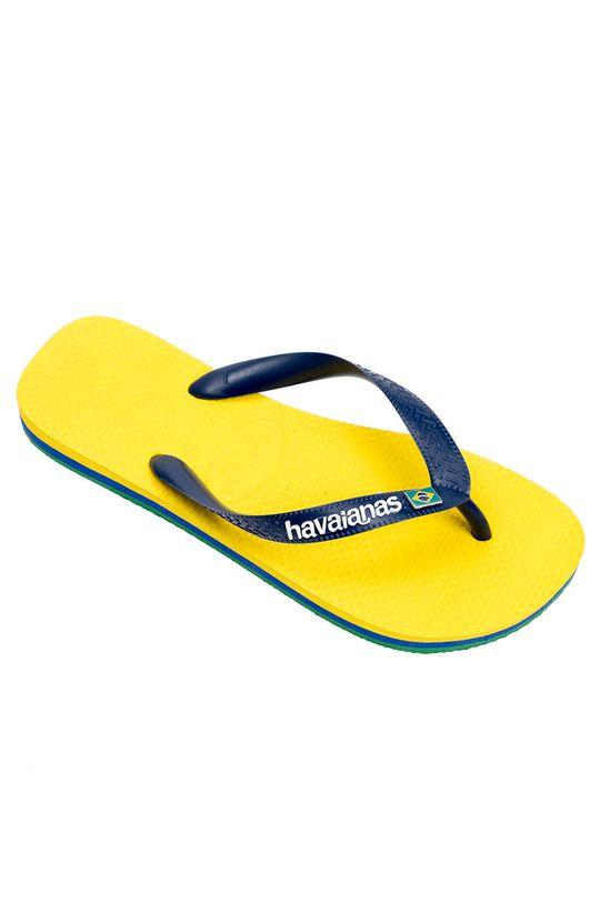 żółty Havaianas - Japonki Damski