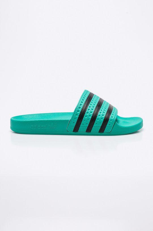 zelená adidas Originals - Šľapky Pánsky