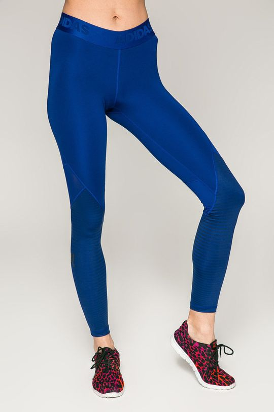 modrá adidas Performance - Legíny Dámsky