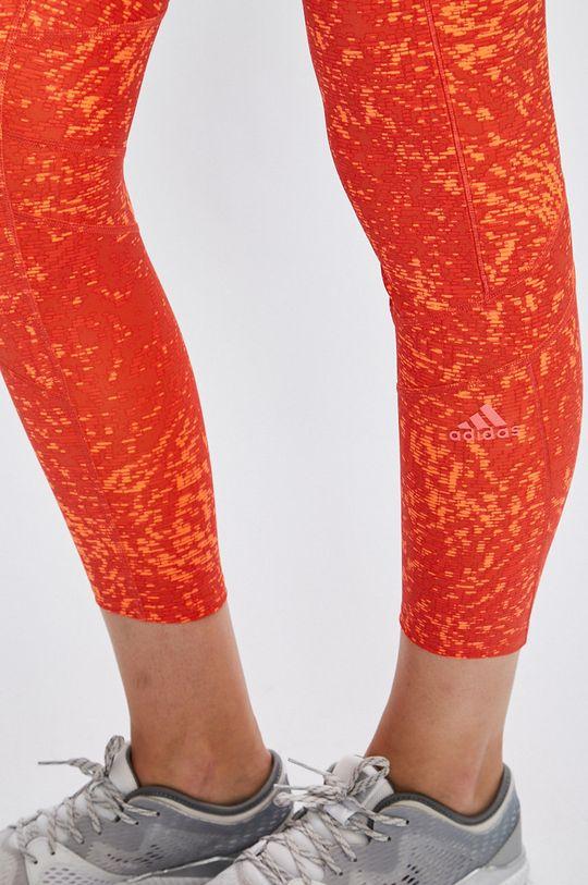 oranžová adidas Performance - Legíny