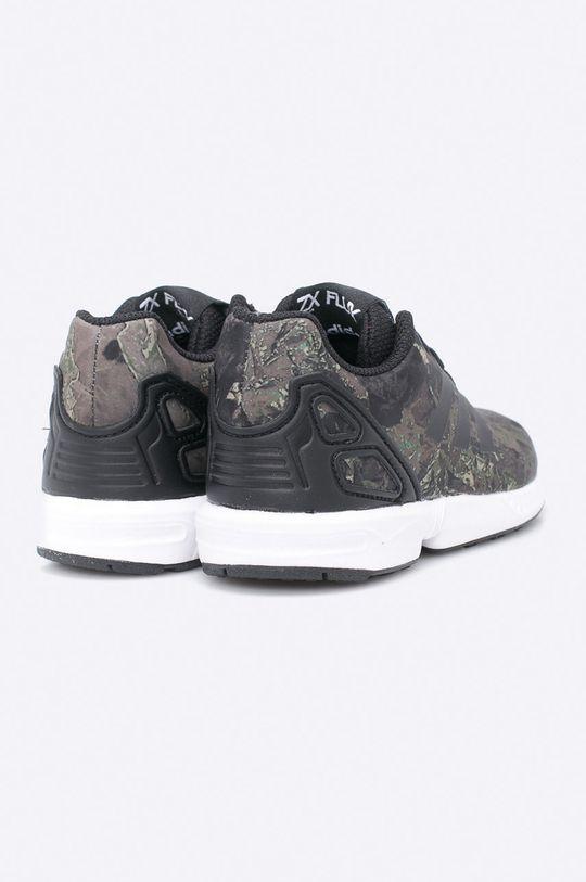 vojenská zelená adidas Originals - Detské topánky ZX Flux C