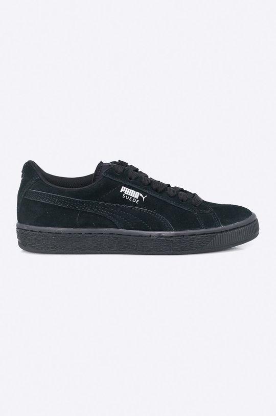 černá Puma - Dětské boty Suede Jr Chlapecký