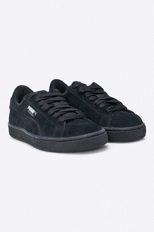 Puma - Dětské boty Suede Jr černá