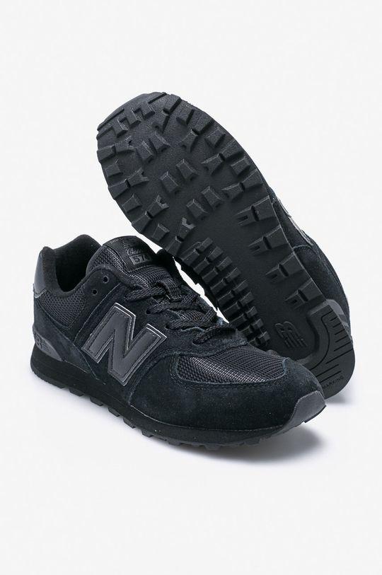 černá New Balance - Dětské boty GC574TB