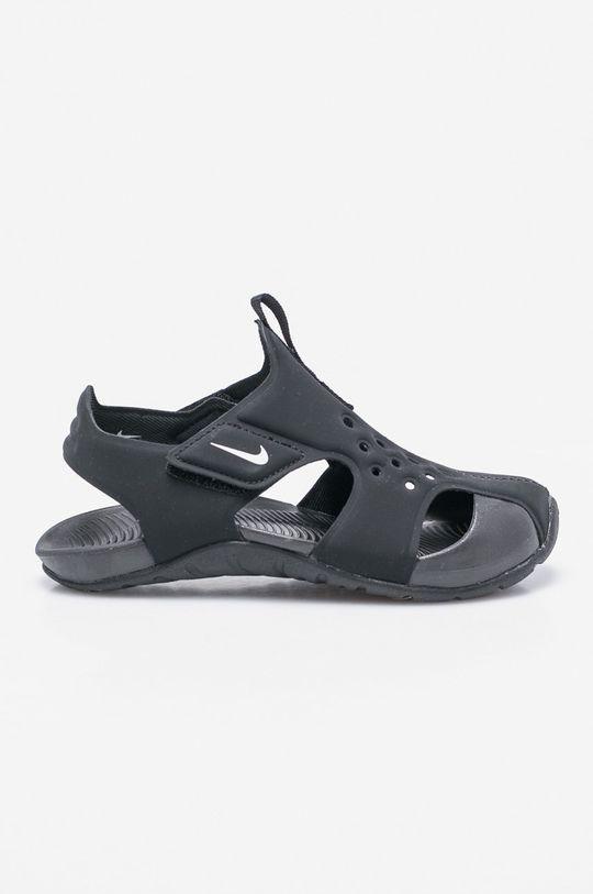 negru Nike Kids - Sandale copii. De băieți