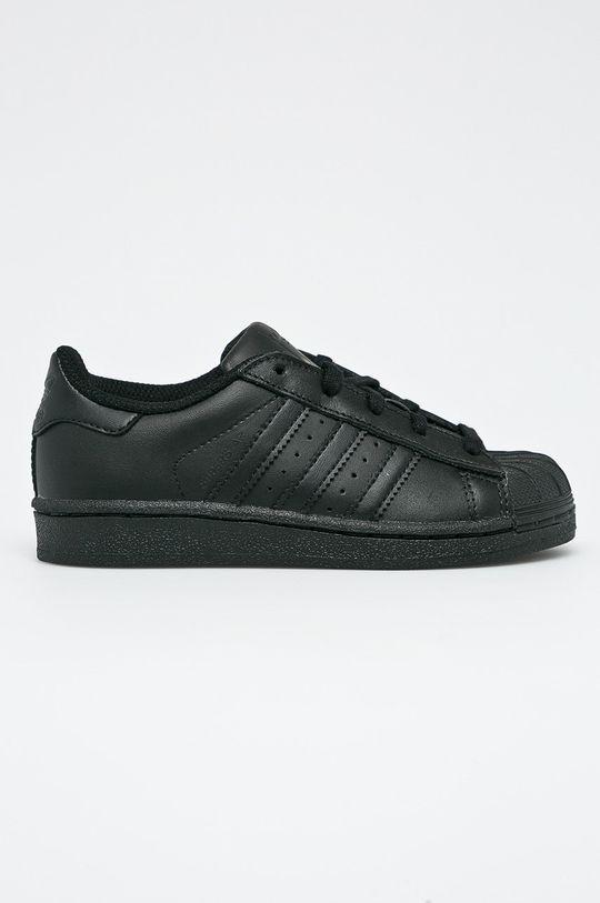 čierna adidas Originals - Detské topánky Superstar Chlapčenský
