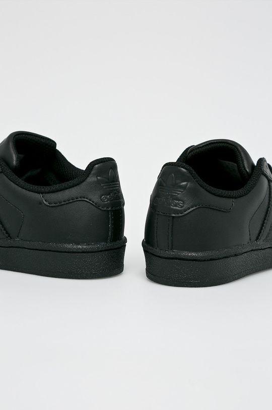 čierna adidas Originals - Detské topánky Superstar
