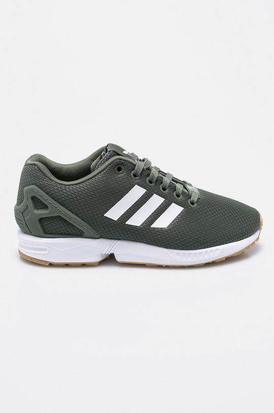 vojenská zelená adidas Originals - Topánky ZX Flux Dámsky