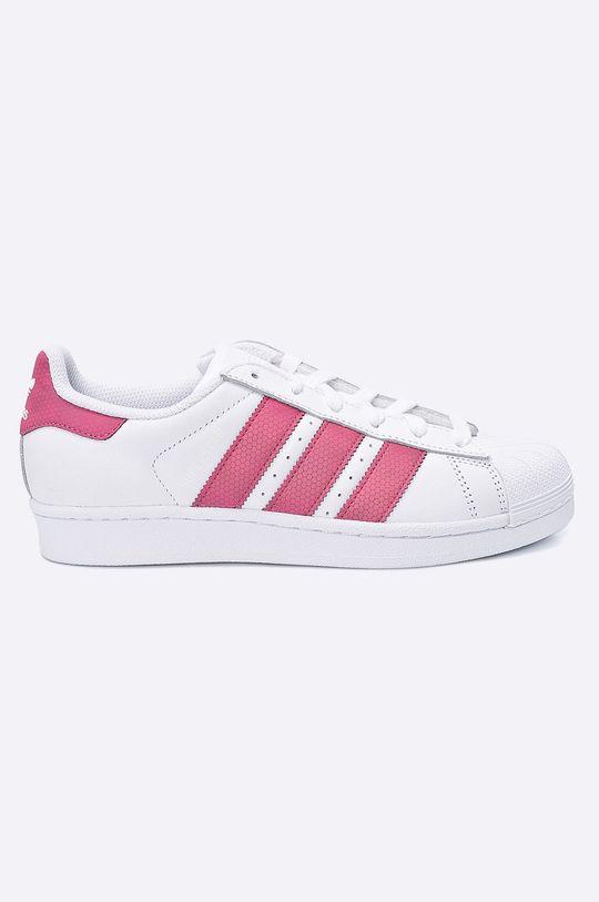 biela adidas Originals - Detské topánky Superstar J Dievčenský