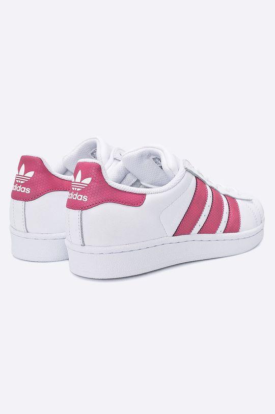 biela adidas Originals - Detské topánky Superstar J