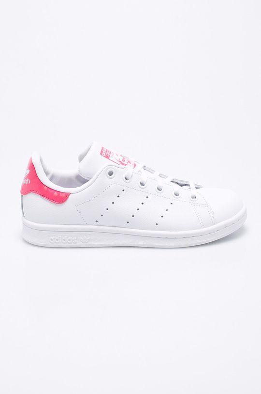 biela adidas Originals - Detské topánky Stan Smith J Dievčenský