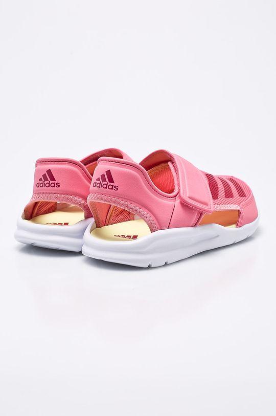 ružová adidas Performance - Detské sandále