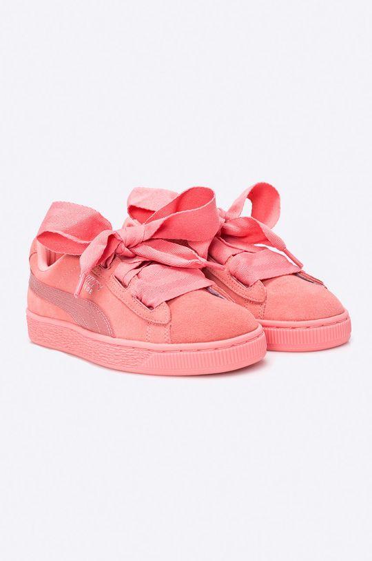 Puma - Topánky Suede Heart sýto ružová
