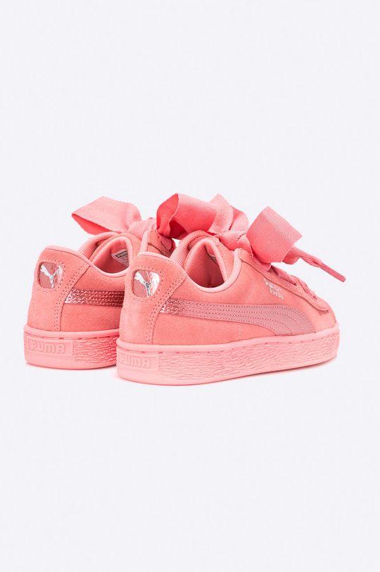 sýto ružová Puma - Topánky Suede Heart