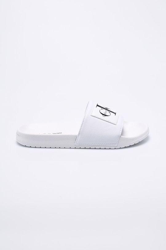 bílá Calvin Klein Jeans - Pantofle Pánský
