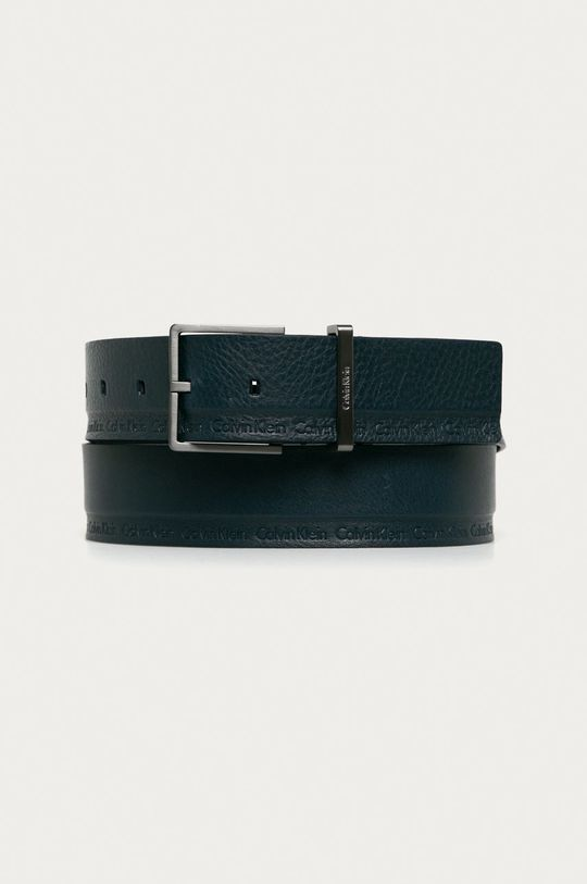 tmavomodrá Calvin Klein Jeans - Kožený opasok Pánsky