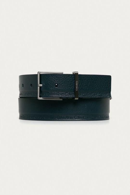 granatowy Calvin Klein Jeans - Pasek skórzany Męski