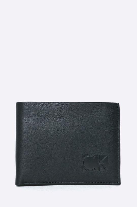negru Calvin Klein Jeans - Portofel de piele + breloc De bărbați