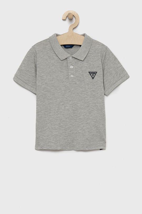 jasny szary Guess Jeans - Polo dziecięce 118-176 cm Chłopięcy