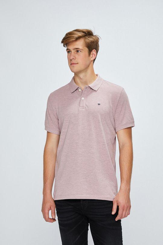 ružová Tom Tailor Denim - Pánske polo tričko Pánsky