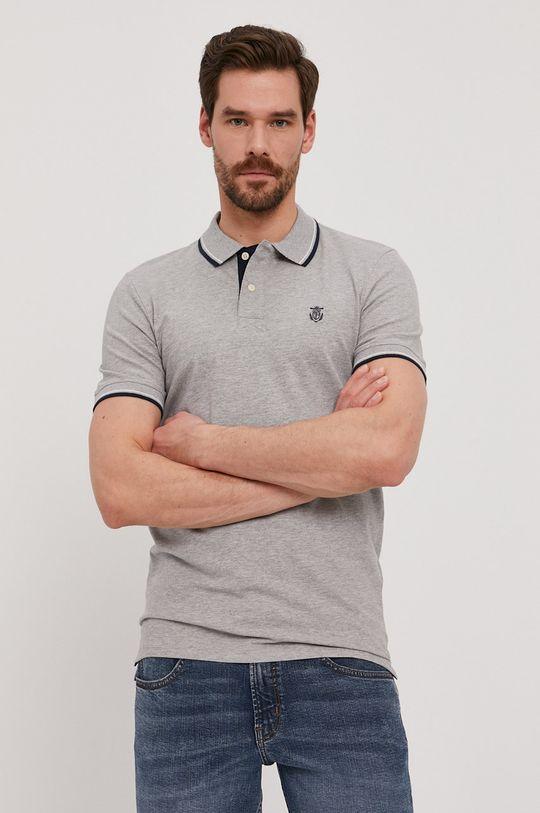 šedá Selected - Polo tričko Pánský