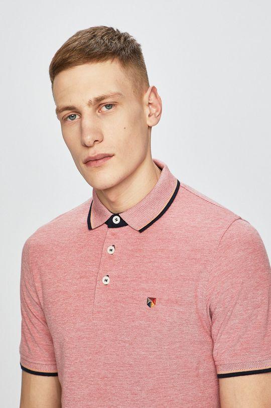 fialovo-růžová Premium by Jack&Jones - polo tričko Pánský